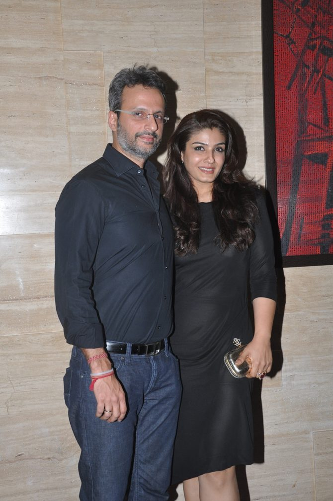 Raveena Tandon with Anil Thadani