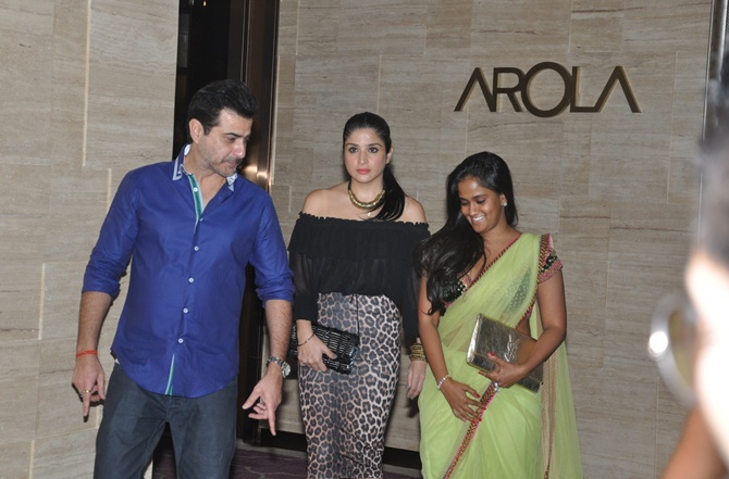 Sanjay and Maheep Kapoor, Arpita Khan