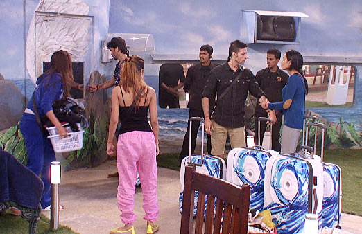 The housemates in Bigg Boss
