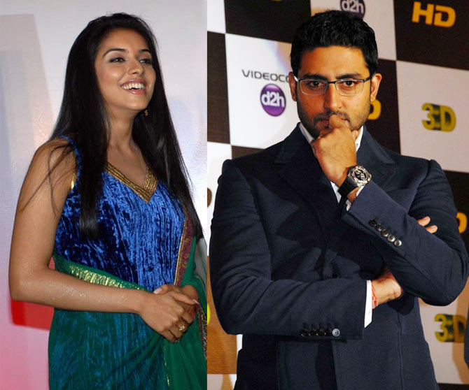 Asin and Abhishek Bachchan