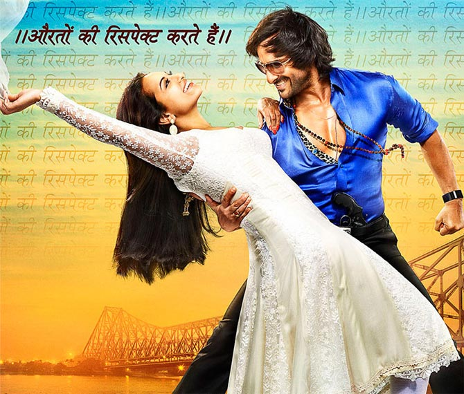 Sonakshi Sinha and Saif Ali Khan in Bullett Raja