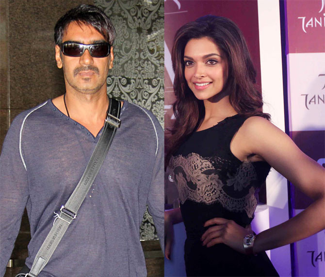 Ajay Devgn and Deepika Padukone