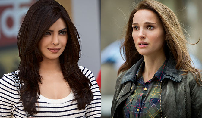 Prriyanka Chopra as Priya Mehra and Natalie Portman as Jane Foster