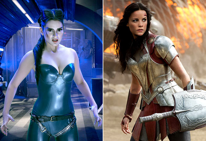 Kangna Ranaut as Kaya and Jaimie Alexander as Sif