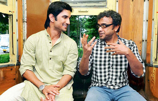Sushant Singh Rajput and Dibakar Banerjee on the sets of Detective Byomkesh Bakshi