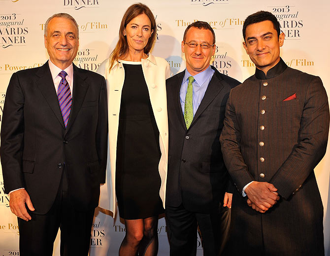 Peter Ackerman, Kathryn Bigelow, Aaron Lobel and Aamir Khan
