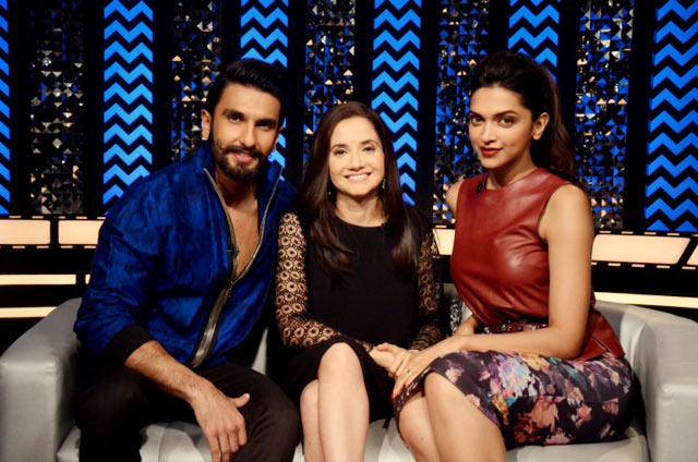 Ranveer Singh, Anupama Chopra and Deepika Padukone