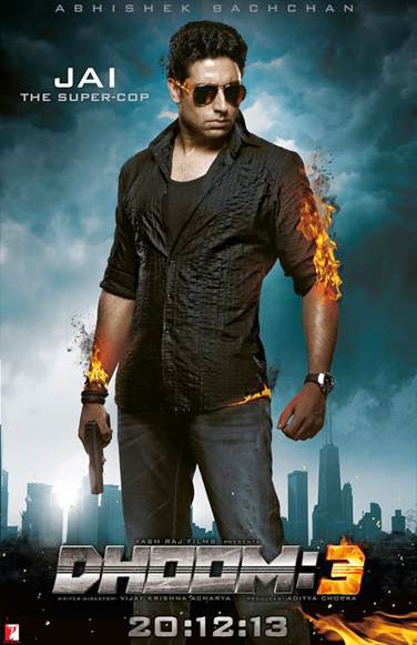 Abhishek Bachcan on the poster of Dhoom:3