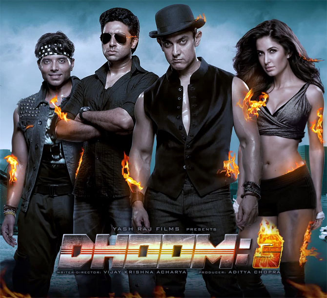 Movie poster of Dhoom 3