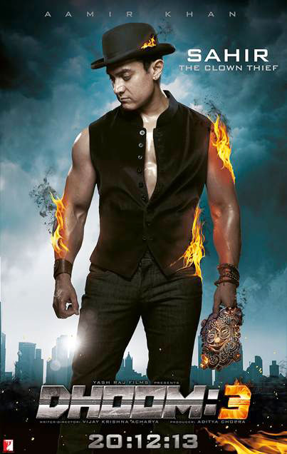 Aamir Khan on the poster of Dhoom:3