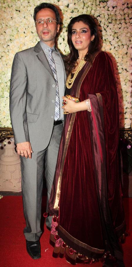Anil Thadani and Raveena Tandon