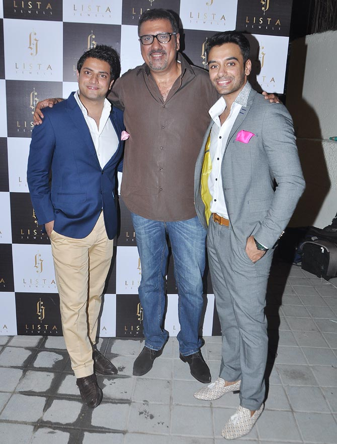 Boman Irani with Lokesh and Hitesh Gurnani