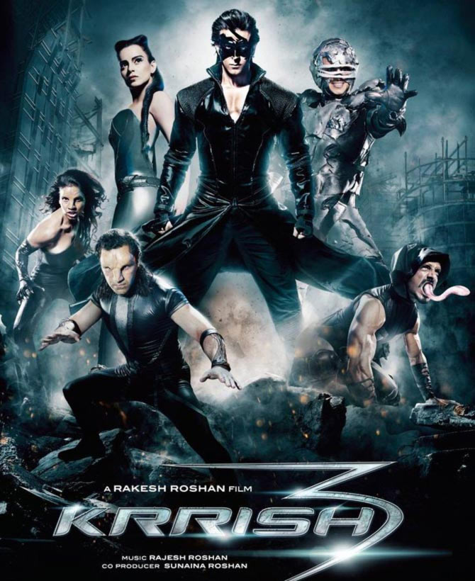 Movie poster of Krrish 3
