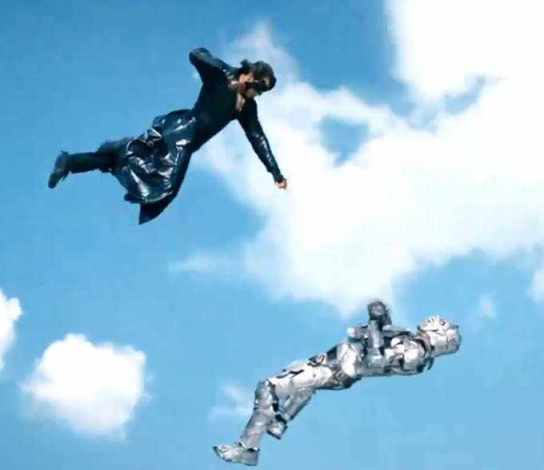 Hrithik Roshan and Vivek Oberoi in Krrish 3