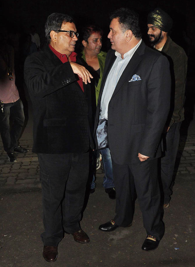Rishi Kapoor and Subhash Ghai