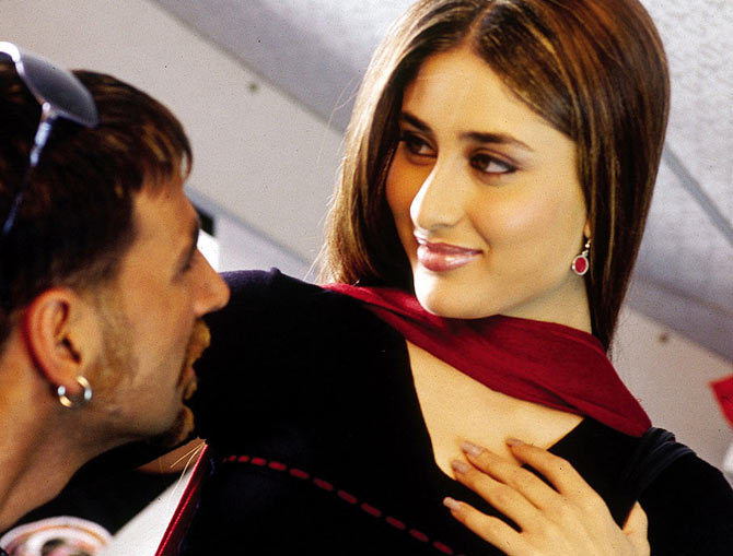 Akshay Kumar and Kareena Kapoor Khan in Bewafa