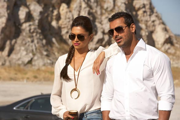 Deepika Padukone and John Abraham in Race 2
