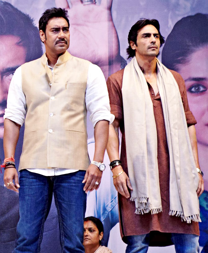 Ajay Devgn and Arjun Rampal in Satyagraha