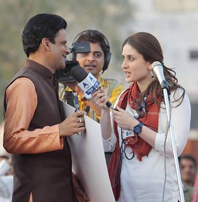 Manoj Bajpayee and Kareena Kapoor in Satyagraha
