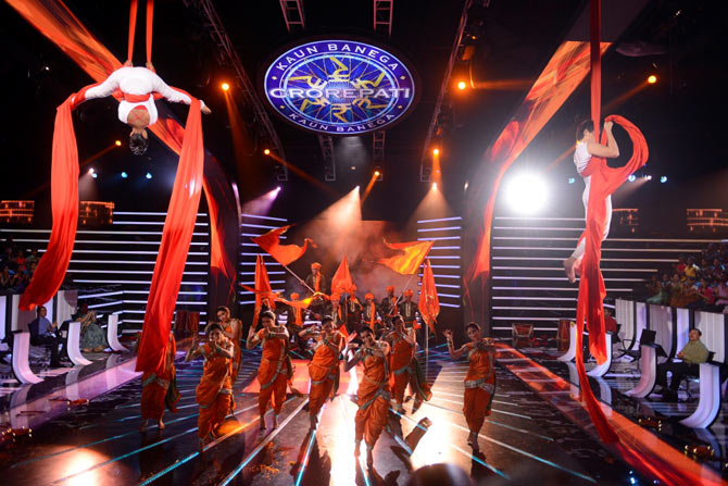 Dancers on the KBC sets