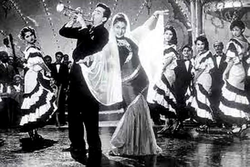 Raj Kapoor and Nadira in Shri 420