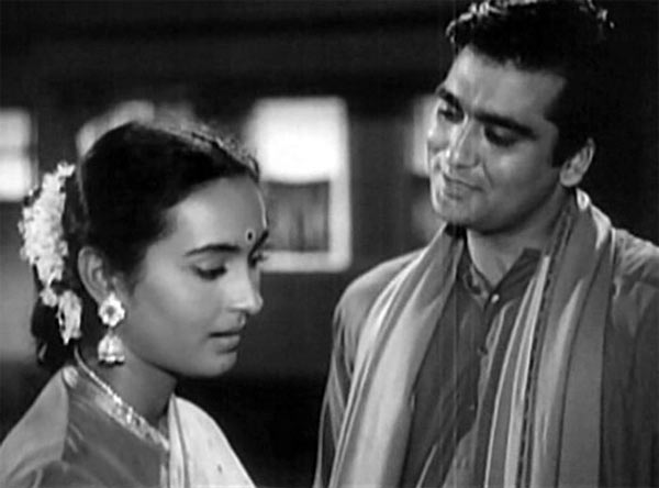Nutan and Sunil Dutt in Sujata