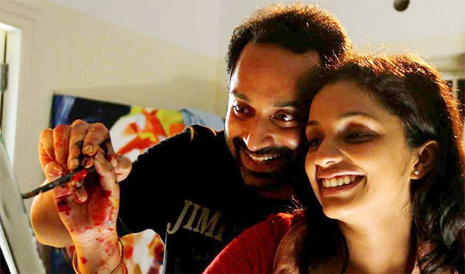 Fahadh Faasil and Ann Augustine in Artist