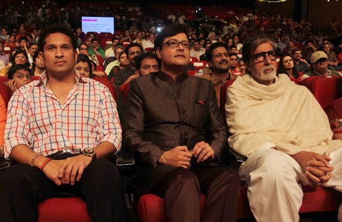 Sachin Tendulkar, Sachin Pilgaonkar, Amitabh Bachchan