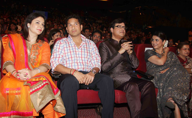 Anjali and Sachin Tendulkar, Supriya and Sachin Pilgaonkar
