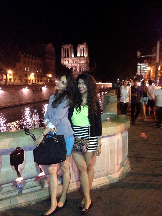 Shraddha Kapoor with a friend in Paris