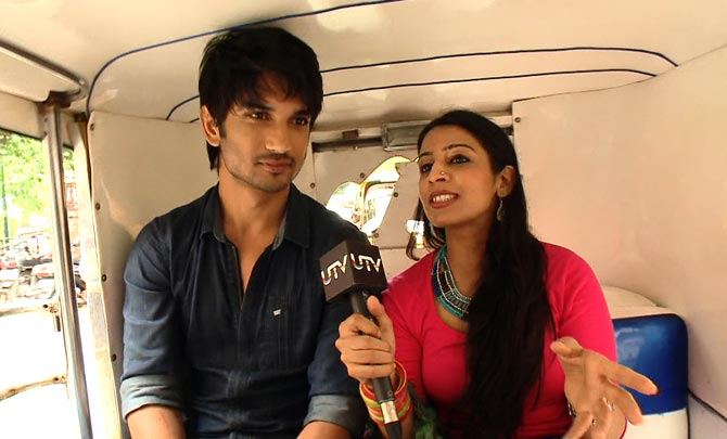 Sushant Singh Rajput with host Garima