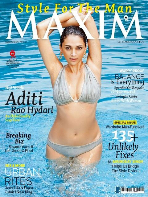Aditi Rao Hydari on the cover of Maxim