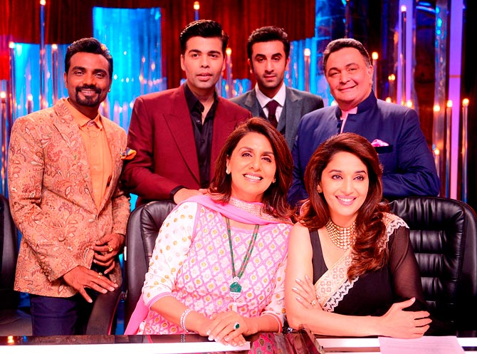 Remo D'Souza, Karan Johar, Ranbir Kapoor, Rishi Kapoor, Madhuri Dixit, Neetu Kapoor