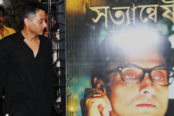 Sujoy Ghosh at Satyanweshi premiere in Kolkata.