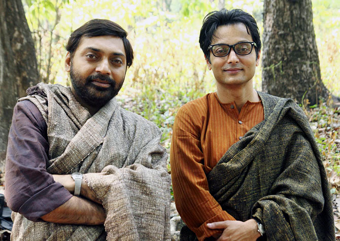Anindya Chatterjee and Sujoy Ghosh in a still from Satyanweshi.