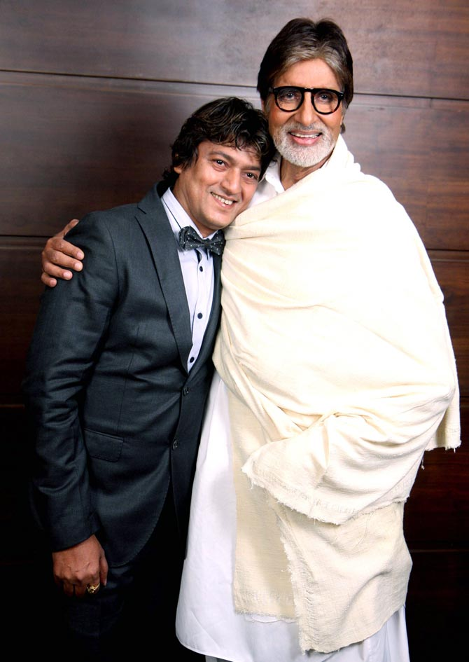 Aadesh Shrivastava and Amitabh Bachchan