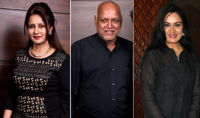 Poonam Dhillon, Manmohan Shetty and Padmini Kolhapure