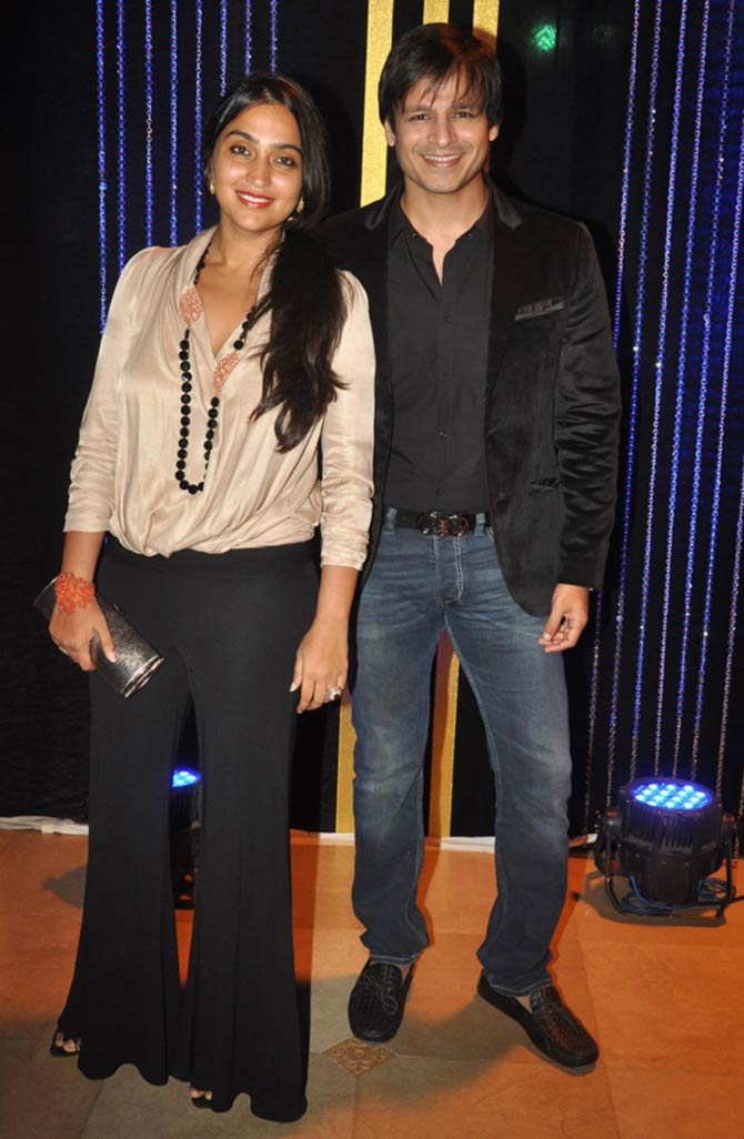 Priyanka Alva and Vivek Obero