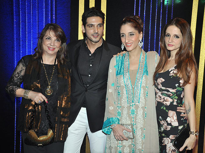 Zarine and Zayed Khan, Farah Khan Ali and Sussanne Roshan