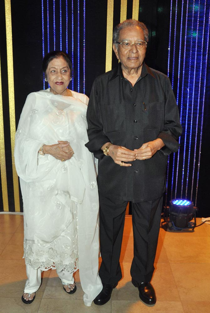 J Om Prakash with wife