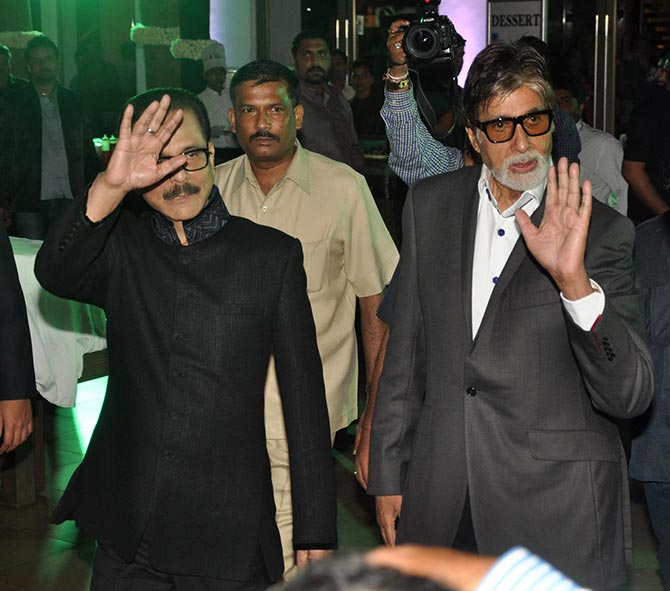 Subrata Roy and Amitabh Bachchan