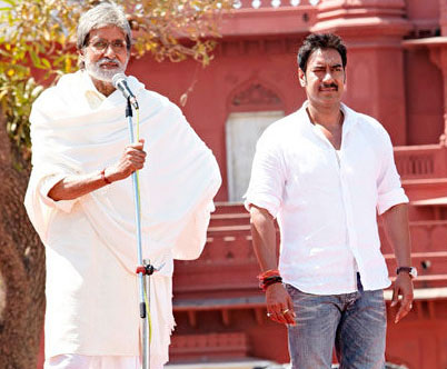Amitabh Bachchan and Ajay Devgn in Satyagraha
