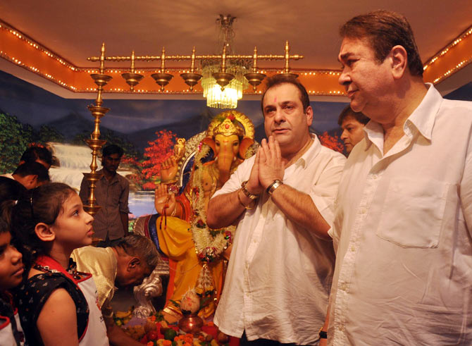 Randhir and Rajeev Kapoor