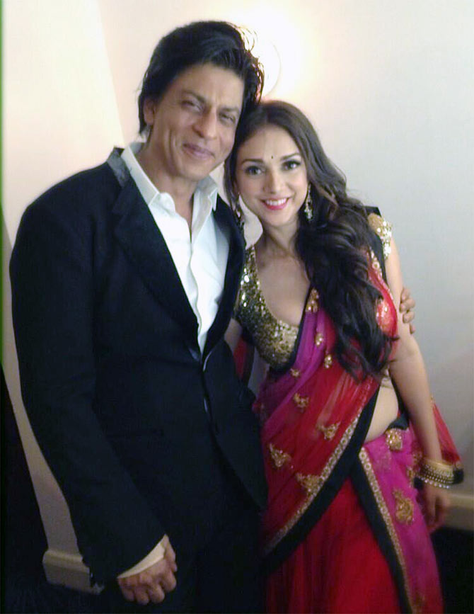 Shah Rukh Khan and Aditi Rao Hydari