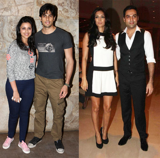 Parineeti Chopra and Siddharth Malhotra, Preeti Desai and Abhay Deol