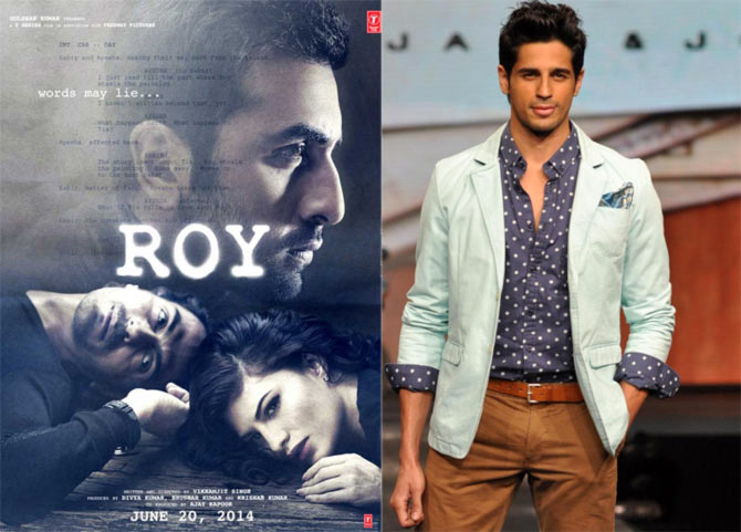 Poster of Roy and Siddharth Malhotra