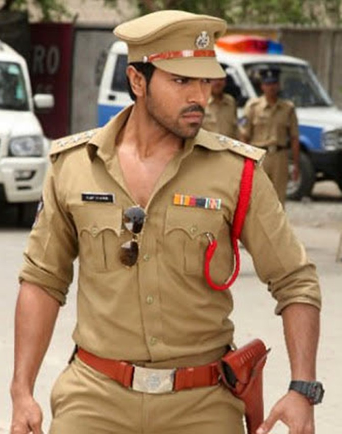 Ram Charan as ACP Vijay Khanna in Zanjeer
