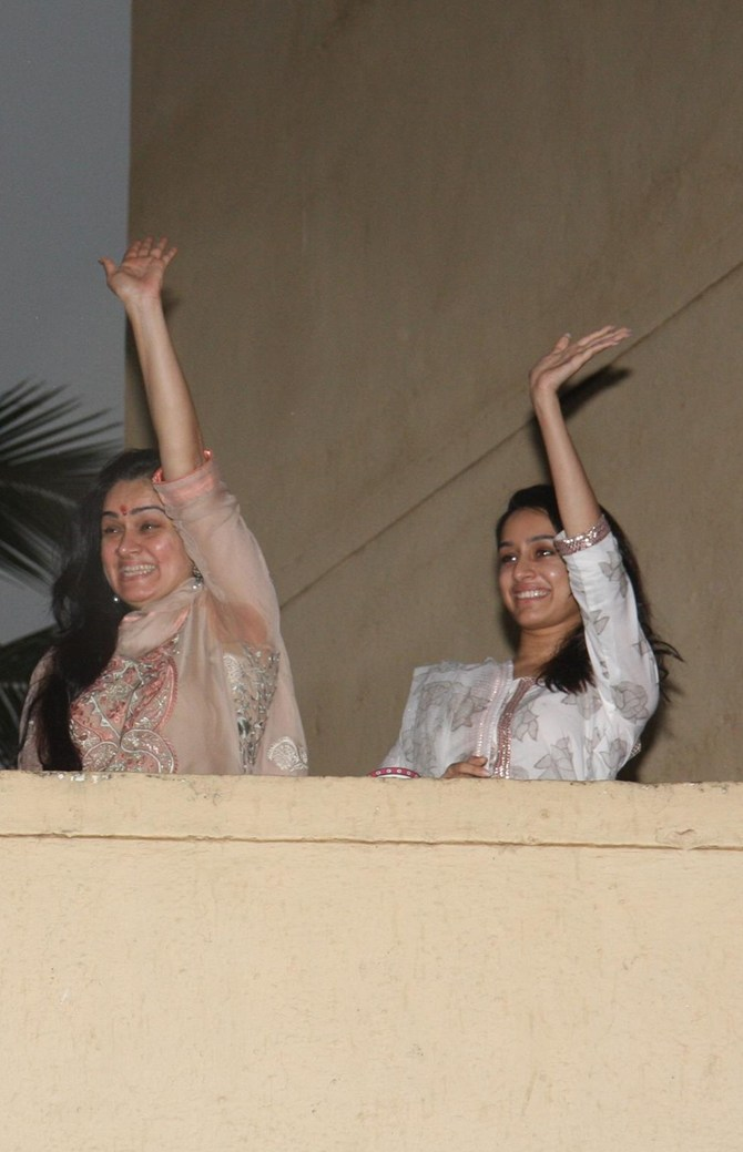 Padmini Kolhapure and Shraddha Kapoor