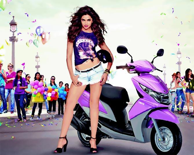 Deepika Padukone in Yamaha ad
