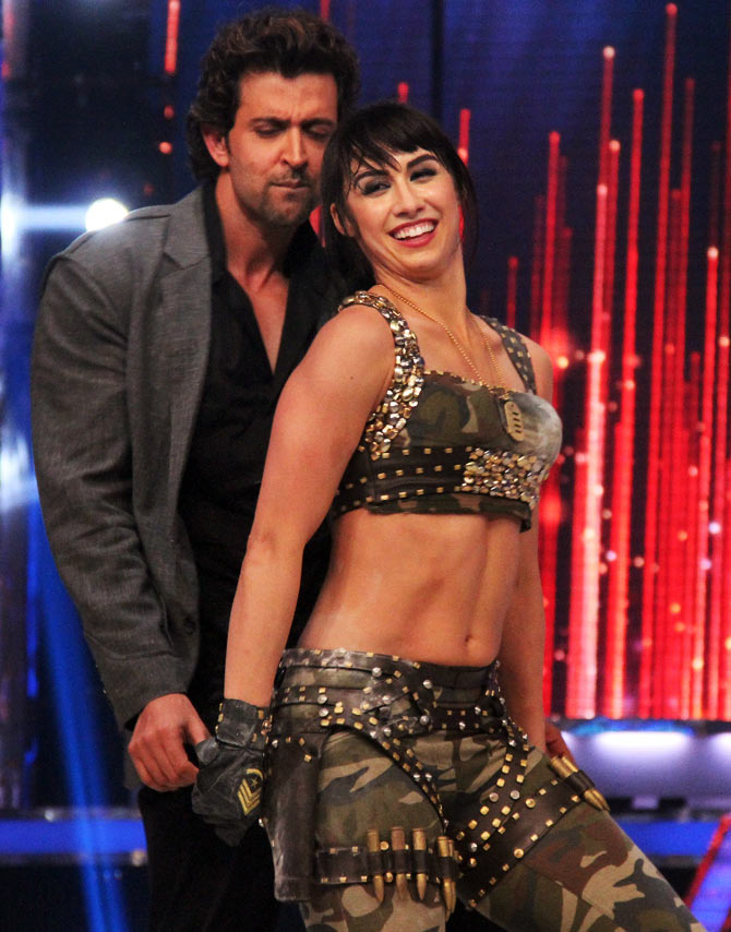 Hrithik Roshan with Lauren Gottlieb